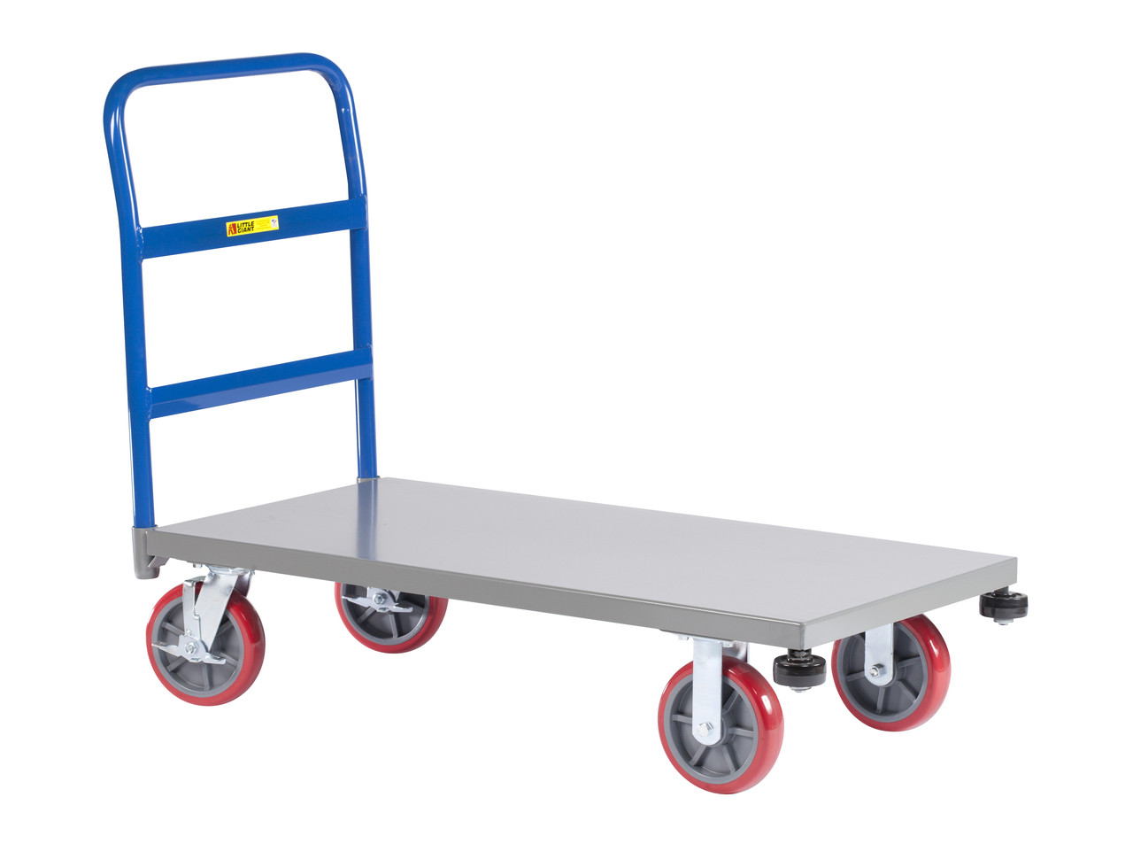 Little Giant Platform Truck With Rolling Bumpers 30 X 48 3600 Lbs Capacity