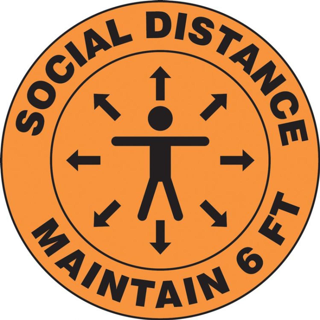"Safety Floor External Social Distancing Floor Signs Stencil Outdoor ~ 30cm 12/"""