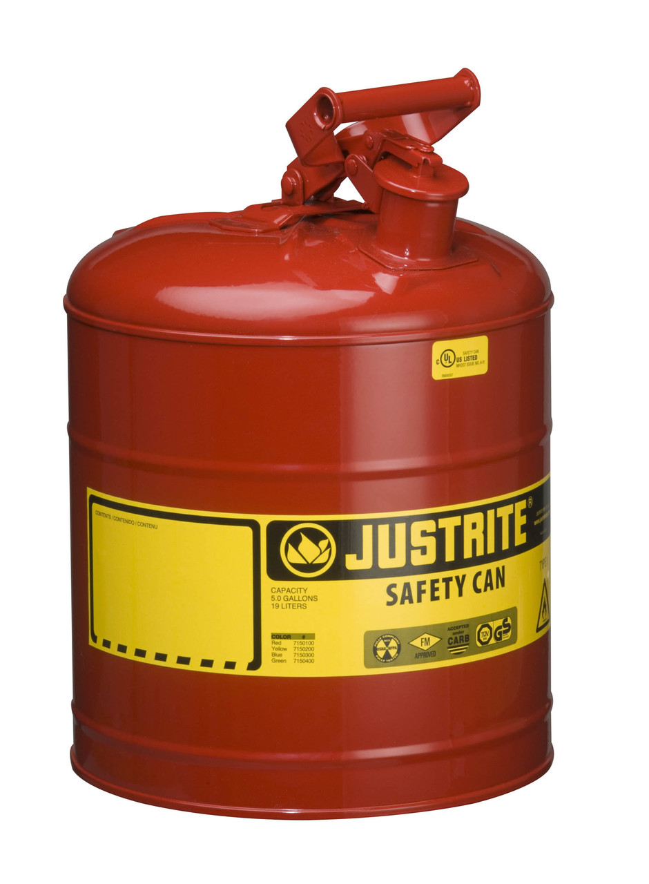 Justrite Type-I Safety Cans