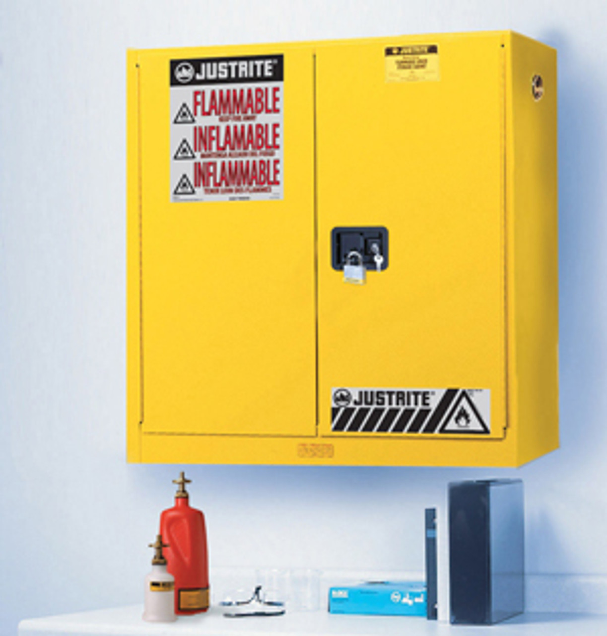Justrite Wall Mount Flammable Safety Cabinets