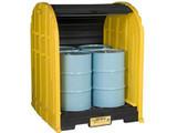 Justrite Outdoor Drum Storage Sheds