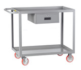 Welded Service Carts With Storage Drawer