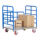Double End Rack Platform Truck w/Side Rack