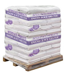 Pallet of Sodium Chloride Ice Melt Pellets (50 x 50 lbs Bags)