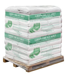 Pallet of Green Fire Ice Melt Pellets (50 x 50 lbs Bags)