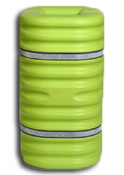 "Eagle 9"" Column Protector - Lime w/Reflective Straps - 1709LM"