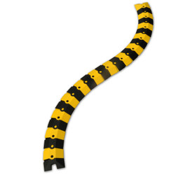Ultra-Sidewinder - 3 Foot System w/Endcaps - Black & Yellow - Small