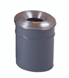 Metal Cease Trash Recep