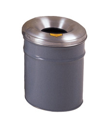 Justrite Cease-Fire - Waste Can - 6 Gallon Gray
