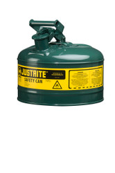 Justrite Green 2.5 Gallon Safety Can