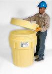 Ultra-Overpack 95 Gal. Drum Yellow 0580 with Screw Top