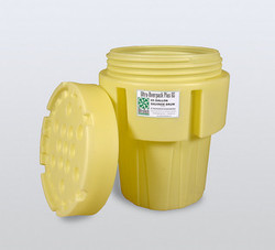 Ultra Overpack 65 Gal. Drum w/Screw Top Lid, Yellow