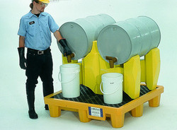 Ultra-Drum Rack Containment System - 2 Drum With Drain - 2384