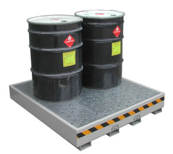 6 Drum Steel Spill Containment Pallet