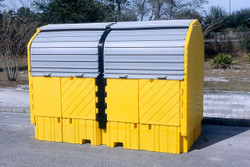 Outdoor Twin IBC Hard Top Containment Pallet