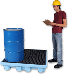 Ultra-Spill Pallet P4 Fluorinated - 1233 - 4 Drum - No Drain