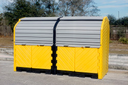 UltraTech Hard Top P8 Plus - 8 Drum Spill Containment Unit - 9651 - With Drain