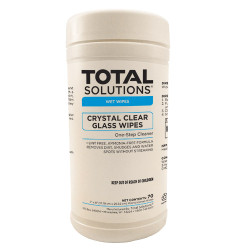 Crystal Clear Glass Wipes - 70 Count - 6 Canisters Per Case