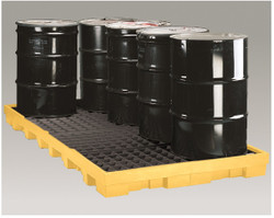Eagle 1688 Spill Pallet With 55 Gallon Drum Storage