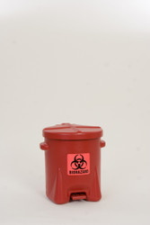 6 Gallon Bio Hazard Waste Can