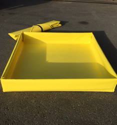 Small Portable Berm for Spills