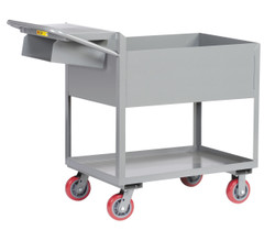 "Picking Cart w/6"" Deep Shelves"