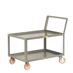 Sloped Handle Shelf Cart