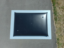 5,000 Gallon Grey Water Tank w/Ground Mat