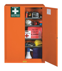 "Justrite Emergency Preparedness Storage Cabinet, PowerPortâ""¢ Pass-Thru"