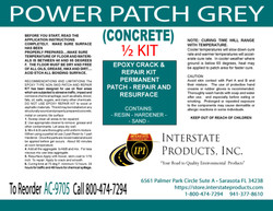 Power Patch Grey Concrete Patch Half Kit