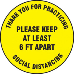 Floor Sign for Social Distancing