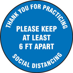 Social Distancing Floor Sign 17""