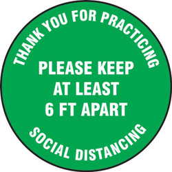 """Social Distancing Floor Sign 17"""""""