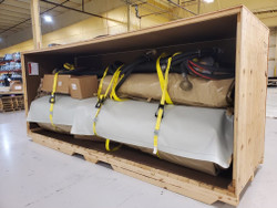 Military Fuel Bladder In Crate with All Accessories.    Approx 8,000 lbs.