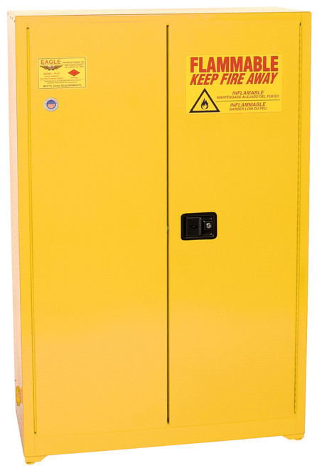 Yellow Paint & Ink Storage Cabinet