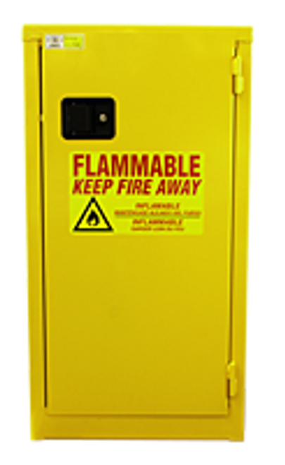Jamco Flammable Slimline Cabinet - 18 Gallons - Manual Close