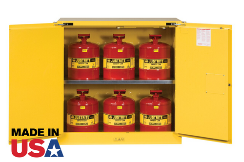 30 Gallon Flammable Cabinet with Safety Cans