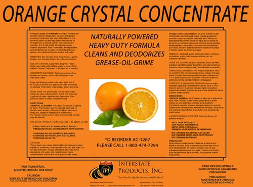 Orange Crystal Powder Degreaser Concentrate