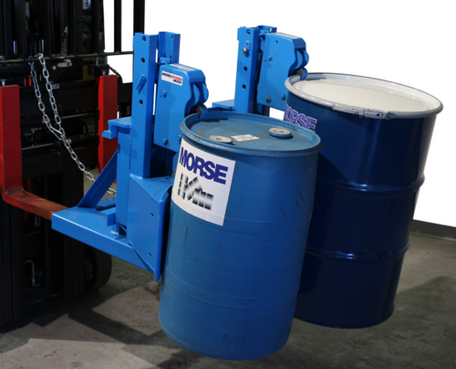 Morse Two Drum Forklift Attachment