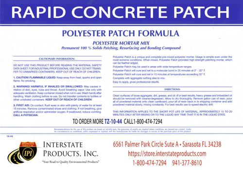 Rapid Concrete Patch - Label