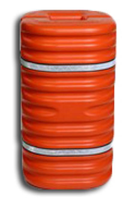 EAGLE Column Protector - Orange - w/Reflective Bands - 1706OR