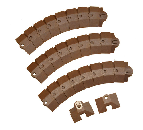 Ultra-Sidewinder - 3 Foot System w/Endcaps - Brown - Small