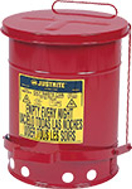 Justrite 6 gal. Oily Waste Can w/ Lever