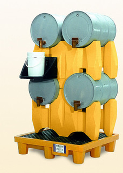 Ultra-Drum Rack System - 4 Drum With Drain - 2381