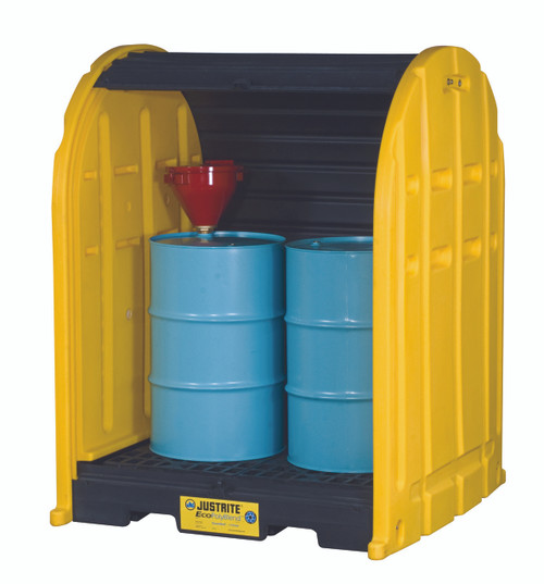 2 Drum EcoPolyBlend Drum Shed