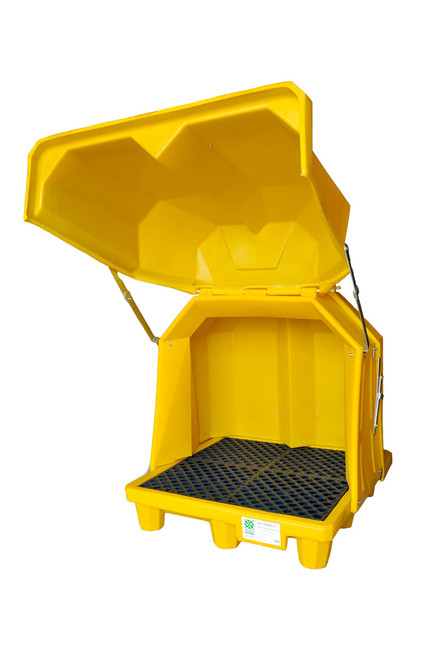 UltraTech Hard Top P4 Spill Pallet - 1080 - 4 Drum - No Drain