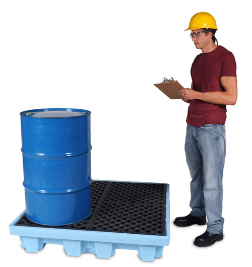 UltraTech Ultra-Spill Pallet P4 Fluorinated - 1232 - 4 Drum - With Drain
