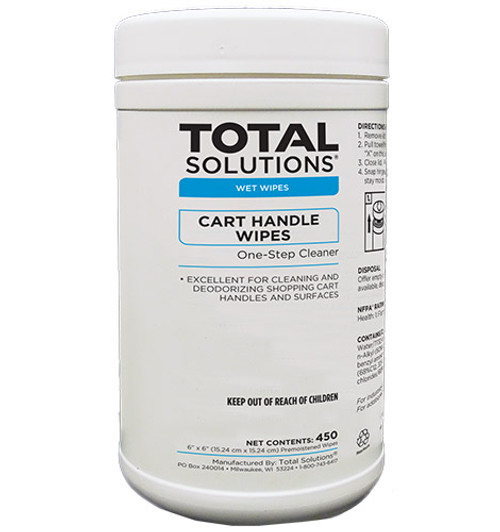 Shopping Cart Handle Wipes - 450 Count - 6 Canisters Per Case