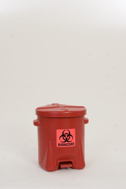6 Gallon Bio Hazard Waste Can