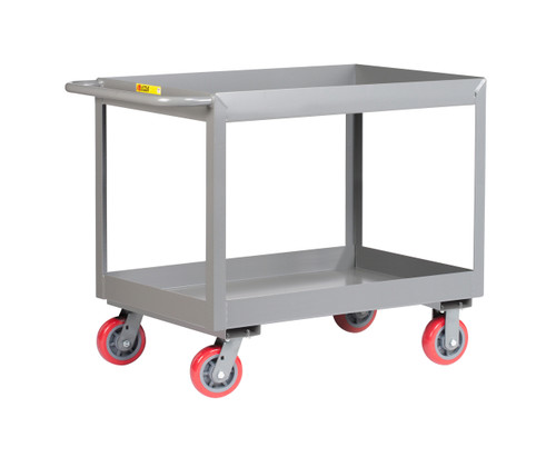 "Industrial Cart with 3"" Shelves"
